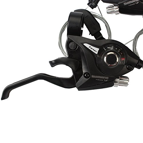 REAMTOP New MTB Bicycle Bike 3 x 7 Speed Shift/Shifter Brake Lever Combo by REAMTOP (Image #3)