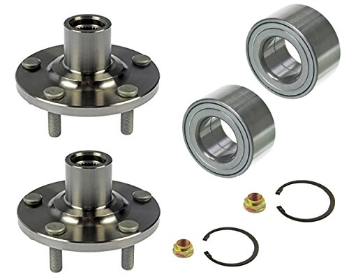 DTA D930401+NT510063 x2 2 Front Wheel Hub Wheel Bearing Kits Fits Toyota Camry Solara Highlander 4cyl Only With Nuts Retaining Clips