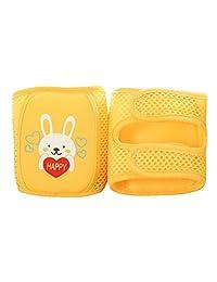 Enerhu Cartoon Baby Anti-slip Knee Pad Protector Toddler Elbow Pads Kneepads Yellow