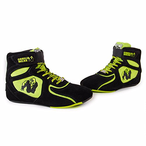 und Tops Schuhe Damen Gorilla Bodybuilding High für Herren Fitness limeLimited Wear Black Neon und Edition Chicago SxUtxz