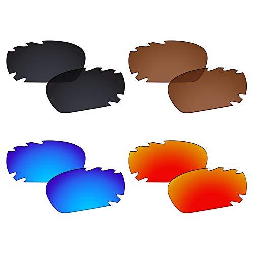 Galvanic 4 Pairs Polarized Lenses for Oakley Racing Jacket/Jawbone Vented Pack - Sunglasses Racing Mens