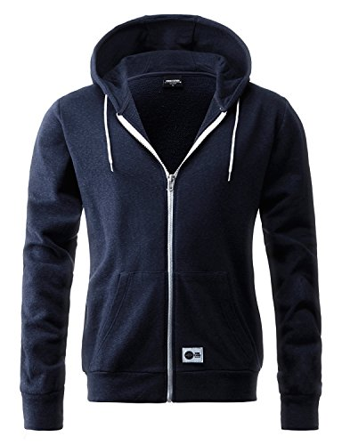 Stone Feather Men's Casual sleeve Navy training hoodie (XL)