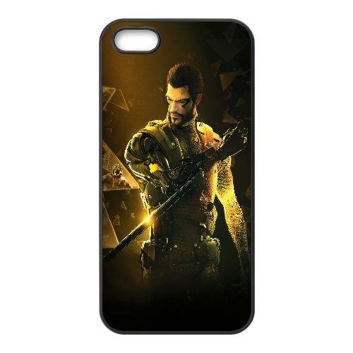 N3Q57 Deus Ex Human Revolution K9L8QF coque iPhone 4 4s cellulaire cas de téléphone couvercle coque noire FX2RJX8VL