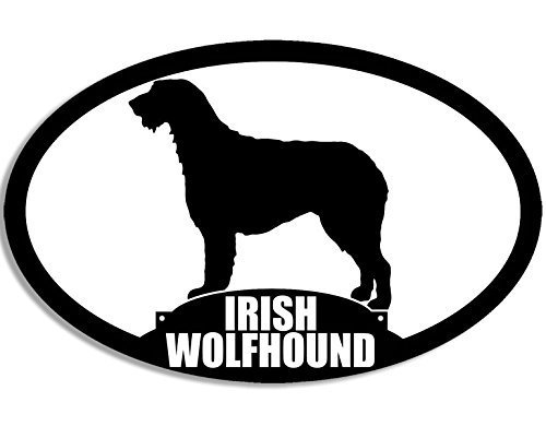 GHaynes Distributing Oval IRISH WOLFHOUND Silhouette Sticker Decal (ireland dog breed) Size: 3 x 5 inch