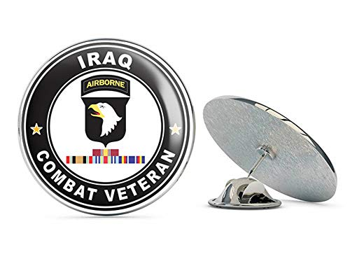 US Army 101st Airborne Division Iraq with GWOT Ribbons Combat Veteran Metal 0.75