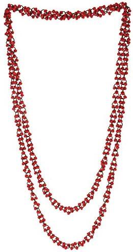 Schöne Rot Holz Wulst Lange Kette Lätzchen Halsband Halsketten Anhänger, Multi-Strang