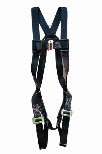 Elk River 57102 StageHand 1 D-Ring Harness with Mating Buckle and Fall Indicator, Fits Small to Large, Black by Elk River