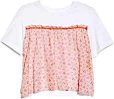 Anna Sui Blush Multi Rosebuds Print Tee