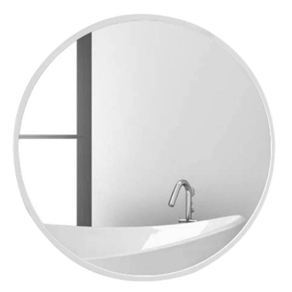 Specchio per il Bagno Specchio-Anti-Nebbia,Specchio da Toeletta Tondo da Parete a Parete,Struttura in Ferro Battuto,Imaging Realistico Imbarcazione Squisita//bianca 30 cm