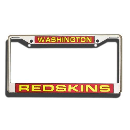 NFL Washington Redskins Laser Cut Chrome Plate Frame