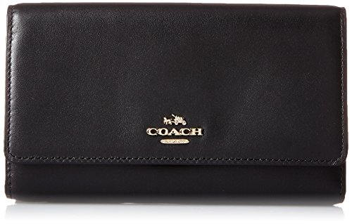 COACH Women's Smooth Leather Phone Crossbody Li/Black One Size (Coach Nomad Crossbody In Burnished Glovetanned Leather)