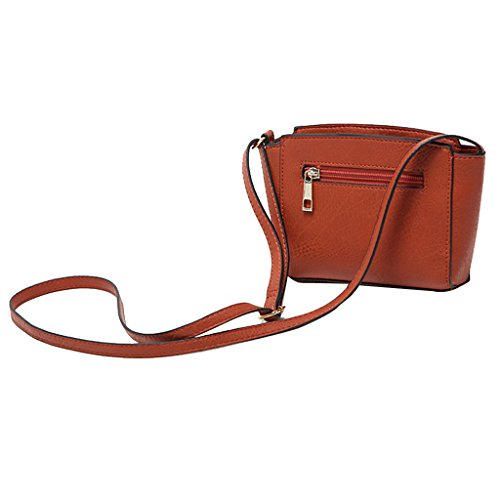 Purse Strap Bag Handbag Brown Bag for Satchel Hobo Crossbody Leather Tote PU Prettyia Shoulder Women Twx8B7Eq