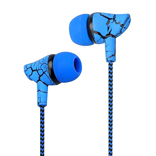 NR Crack Headphones Super Bass Wired Earbuds Wired Headphones with Microphone,