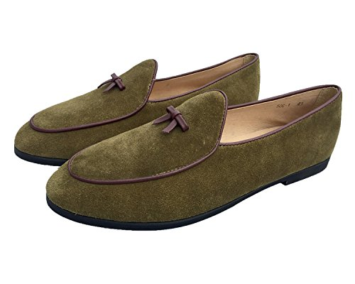 Naar Het Westen Heren Vintage Instappers Voor Mannen Slip-on Loafer Penny Loafer Ongedwongen Loafers 3-groen