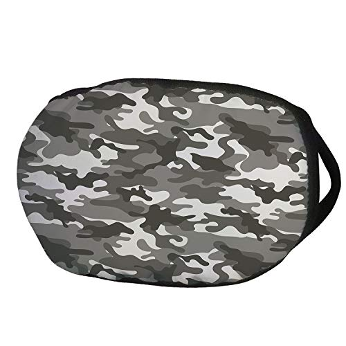 Fashion Cotton Antidust Face Mouth Mask,Camouflage,Monochrome Army Attire Pattern Camouflage inside Vegetation Military Equipment Decorative,Grey Coconut,for women & -
