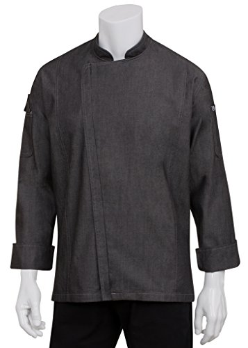 Chef Works Womens Gramercy Chef Coat, Black, 2X-Large
