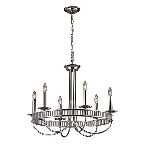 (ELK Lighting 10231/6 6 Light Chandelier, Polished Chrome )