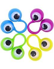 jojofuny 10 stuks vingerpoppen mini vingerogen vingerringpoppen voor baby's kinderen en peuters (willekeurige kleur)