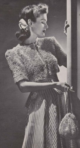 Bolero Bag - Bonbon Bolero Shrug Sweater with Bag Purse Crochet Pattern