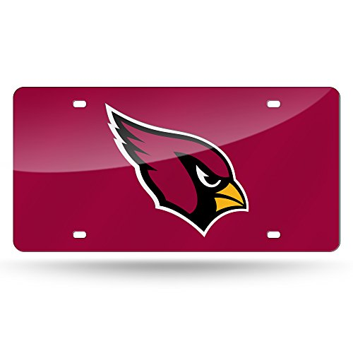 Arizona Cardinals License Plate Cover (Red) Arizona Cardinals Red Laser