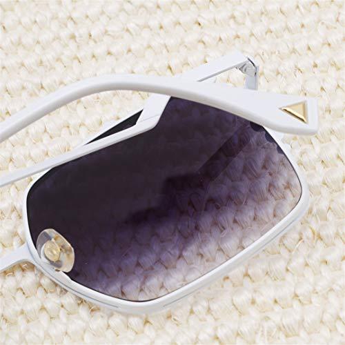 Femmes Porter Dames Design Vintage de Rétro Fit Noir Underleaf Filles Femmes Soleil Lunettes Shades Blanc Carré qOpIX4U