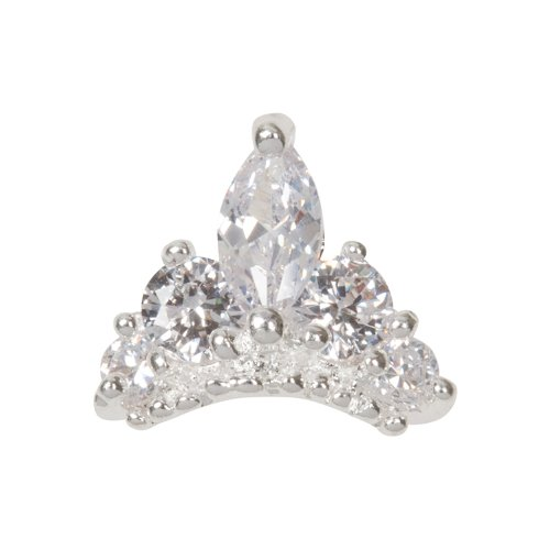 Zink Color Nail Art Luxe/Bridal Marquise Cut Tiara ()