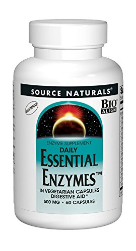 Source Naturals Essential Enzymes 500mg, 60 Vegetarian Capsules ()