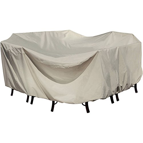 (Treasure Garden Medium Rectangular Table Cover without Umbrella Hole - 72