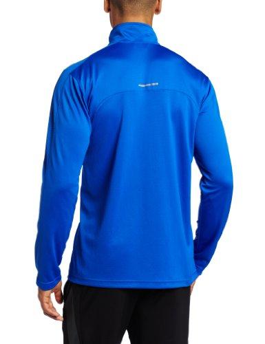 Haut ¨¤ manches courtes 1/4 en tricot ¨¤ manches longues Versacool pour homme (bleu vital, moyen)