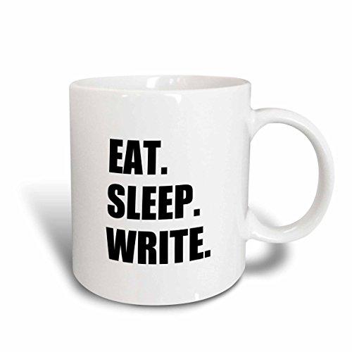 3dRose mug_180459_1 Write Black Text Writing Fan Writer