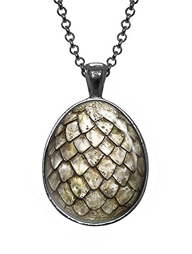White Dragon Egg Pendant, Game of Thrones Jewelry, Geek Necklace, Girl Gift, Birthday Gifts, khaleesi, Daenerys (Dragon Girl Game Of Thrones)