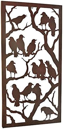 Design Toscano Night of the Ravens Metal Wall Sculpture