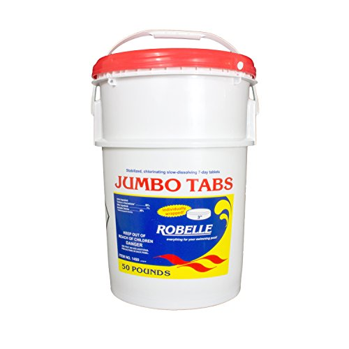 Robelle 1450 3 Inch Chlorine Jumbo Tabs For Swimming Pools 50 Pounds Buy Online In Uae