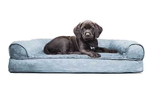 FurHaven Pet Dog Bed | Orthopedic Ultra Plush Sofa-Style Couch
