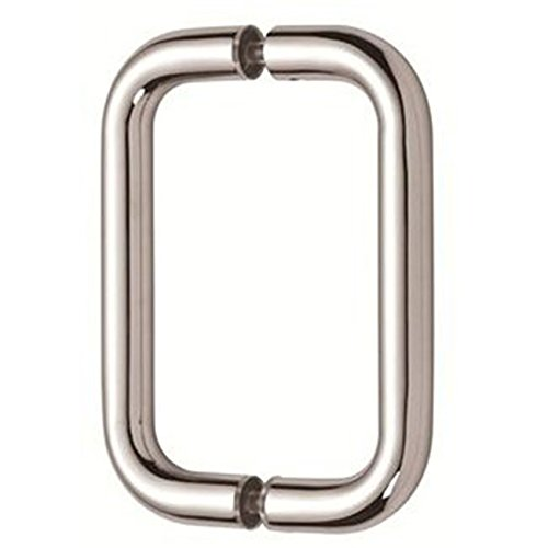 Dynasty Hardware 6'' Back to Back Tubular Shower Door Pull For Frameless Shower Doors, Polished Chrome by Dynasty Hardware
