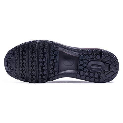 Ginnastica D'aria Uomini Walking Nero Cuscino Rosso Sport E Sneaker Jogging Per Donne Scarpe Corsa Gym Onemix Athletic Fitness Da f8q1x