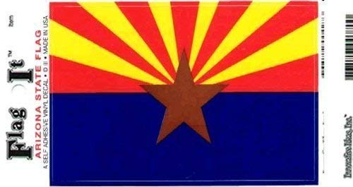 Arizona Heavy Duty Vinyl Bumper Sticker (3 x 5 Inches)
