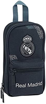 Safta Real Madrid 2 Plumier Estuches 23 cm, Azul: Amazon.es: Juguetes y juegos