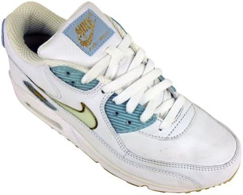 Nike Womens Air Max 90 White Blue Gold
