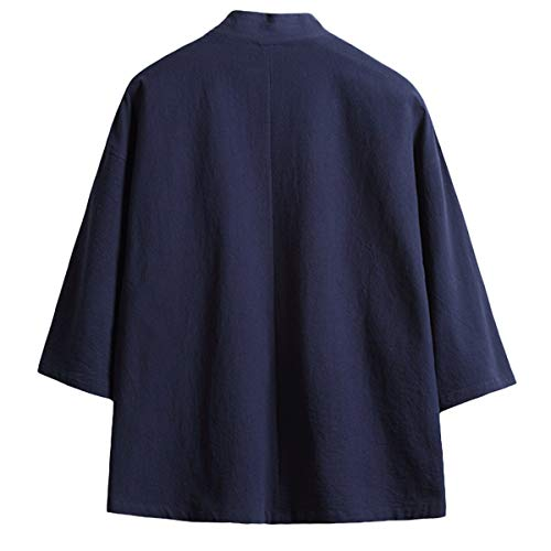 Basic Cappotto Mirecoo A 3 13 Uomo Maniche Mao 4 Knallblau Collo Cq5ndrqOS