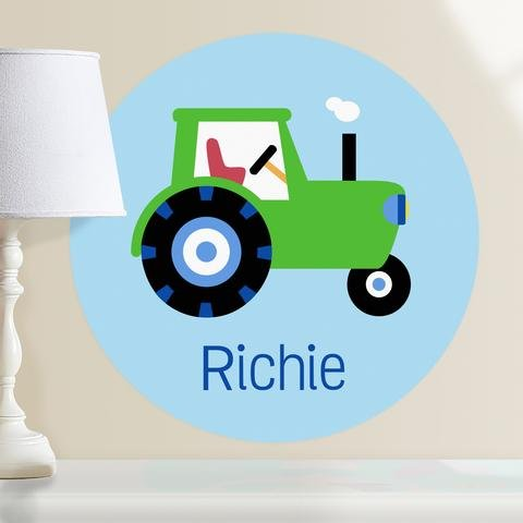 Olive Kids Trains, Planes and Trucks Tractor Personalized WallDotz