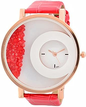 fa74642c9 Buy Gopal ShopcartMxre Brand Red Diamond Watch For Woman GNH12 Online at Low  Prices in India - Amazon.in
