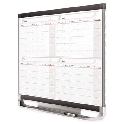 Prestige 2 Total Erase Four-Month Calendar, 36 x 24, Graphite Color Frame, Sold as 1 Each