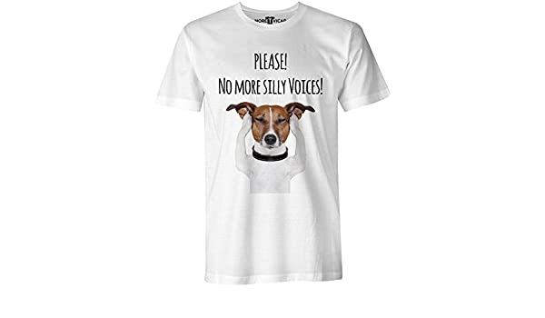 Please! No More Silly Voices - Jack Russell Perro Hombres T Shirt