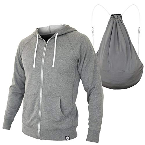Quikflip Hero Hoodie (Convertible Full-Zip Hoodie Backpack) Heather Gray, 4XL