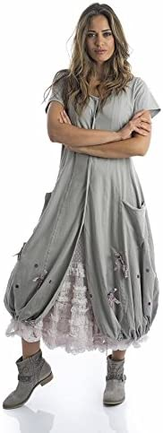 Robe Rhum été grise Bach et raisinVêtements 76YIfgybmv