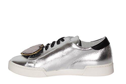 Sneaker In Spilla Graffiti Para Metallizzata Pelo Pelle E Con Gomma Cuore BFwRBq7x
