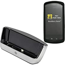 Combo of RIM BlackBerry Charging Pod (ASY-14396-008) and Body Glove Silicone protective case for Blackberry 9500 9530 Storm Thunder (9096301)