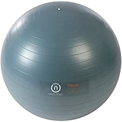 Natural Fitness Pro Burst Resistant Exercise Ball, Slate, 75cm/Large