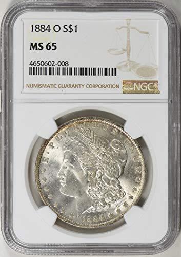 1884 O Morgan Silver Dollar 1884-O Morgan Silver Dollar NGC MS-65 $1 MS-65 NGC MS